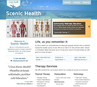 Scenic home page